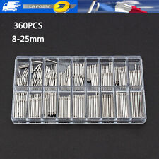 360pcs Ressort montre pompe piston tige pour bracelet de montre 8-25 mm FR