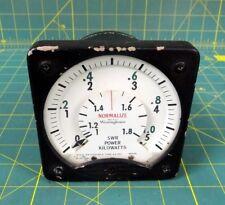 Westinghouse SWR Power Kilowatts Meter P/N BA-13726-N3-C