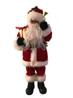 African-American Black Santa Claus Figurine Red Suit 12 in Christmas Table Decor