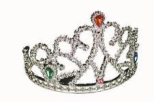 couronne argent avec pierres bijoux enfants, princesse fée