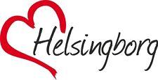 "Auto Aufkleber "" HELSINGBORG "" Sticker Stadt Schweden ca.8x16cm konturgeschn."
