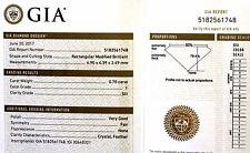 GIA loose certified .70ct SI1 I princess diamond vintage estate antique