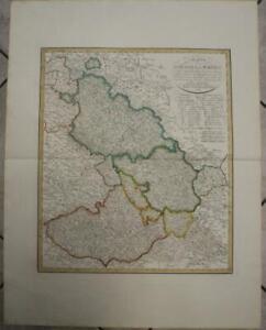 POLAND CZECH REPUBLIC 1804 GÜSSEFELD LARGE ANTIQUE ORIGINAL COPPER ENGRAVED MAP
