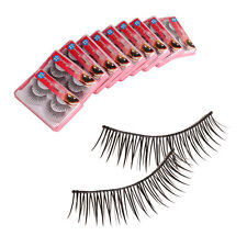 20 Pairs Fake Eye Lashes long Thick False Black Eyelashes Makeup Extension Set