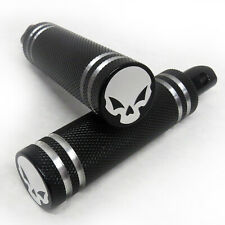 """RF Custom """"Skull"""" Shift Brake Toe Peg PAIR Chrome for Victory Vision and Cross"""