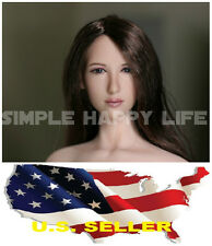 ❶❶1/6 Female LONG hair PALE Head sculpt  DR001 for Phicen VERYCOOL USA❶❶