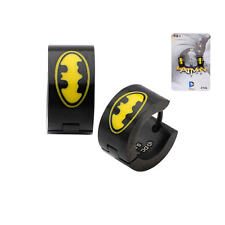 DC Comics Batman Black Stainless Steel Huggie Earrings