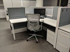 Used Office Cubicles, Haworth Compose 6x6 Cubicles