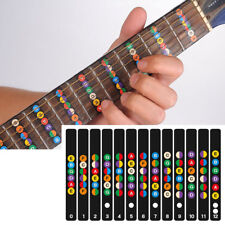 Acoustic Electric Guitar Stickers Bass Fretboard Note Labels Frets Map Universal