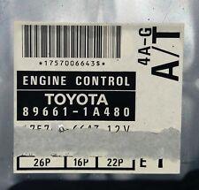 Toyota 89661-1A480 4A-G black top A/T 5 speed ECU ECM oem jdm used