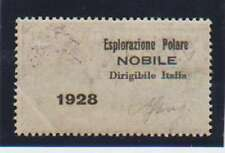B4085: Italy #C7 Nobile Polar Ovpt on Reverse, SIGNED