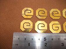 12 Solid Ottone OTTAGONALE Greco Chiave Design INTARSIO PEZZI PER MOBILI BOX ecc..