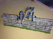J.G. MINIATURES WOODEN FORTIFICATION made of plaster