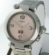 Cartier Pasha C Big Date Stainless Steel Mid Size RARE automatic watch.