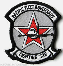 US NAVY PACIFIC FLEET ADVERSARY SQUADRON FIGHTING 126 BANDITS PATCH