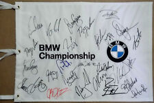 2010 BMW Championship Signed Flag VIJAY SINGH ERNIE ELS JIM FURYK +23 JSA & GAI