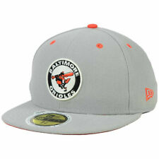 Baltimore Orioles MLB Patch Out New Era 59Fifty Flat Bill Brim Gray Hat Cap O's