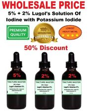 Best Lugol's Solution of Iodine / 2.2oz 5% Iodine + 2 x 2.2oz 2% Iodine
