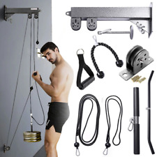 Fitness DIY Pulley Cable Home Gym Equipment Strength Training Apparatus Workouts
