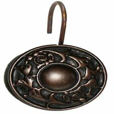 "Carnation Home ""Regency"" Resin Shower Curtain Hooks in Oil Rubbed Bronze"