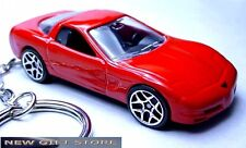 KEY CHAIN 1997~98~1999~2002~2003~2004 RED CHEVY CORVETTE C5 CHEVROLET PORTE CLE