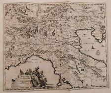 1704 Van der Aa Mappa Carta Italia Liguria Galliae Cis-Alpinae et Maxime Ligurum