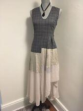 Rachel Rachel Roy New Grey Sleeveless Asymmetrical Mixed-Media Dress Size 2 $149
