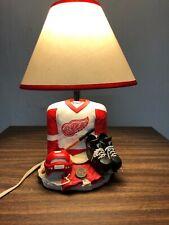 "RARE Vintage Detroit Red Wings 1999 NHL HockeyCeramic Lamp Working Light 15"""