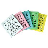 Bingo Spiel Karten Bingokarten Ticket-Block mit je 500 Scheinen versch. Farben