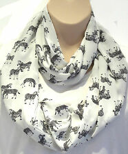 Beautiful Zebra Print Circle Loop Infinity Scarf Snood - New Season