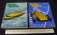 1960 Vintage Model Maker Magazine x 2. Ships Cars Yachts Adverts Engineering #10