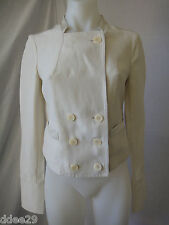 Satch Ladies Beige, Button Up Linen, Short Jacket Size 8 Made in Australia BNWOT