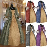 Women Medieval Renaissance Dress Baroque Gown Cosplay Costume Wedding Dresses