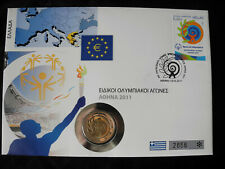 "Griechenland 2011 Numisbrief 2 Euro ""Special Olympics Athen"""