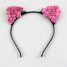 Floral Cat Ears Headband Party Costume Head hair band Hair Accessory