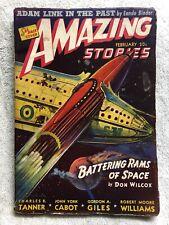 Feb 1941 AMAZING STORIES Sci-Fi Pulp Science Fiction Magazine LEO MOREY COVER