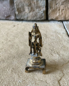 Vintage Alva Museum Replica Bodhisattiva Metal Gold Electroplated