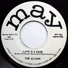 ALVANS 45 Love Is The Game / What Can It Be? NEAR MINT Doo Wop REISSUE bb3311