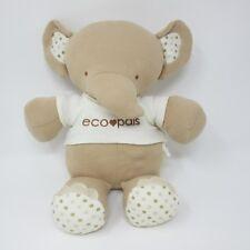 Toys R Us Eco Pals elephant beige tan spotty soft toy plush comforter organic