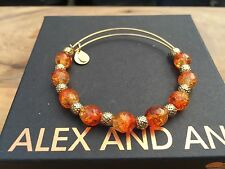 ALEX and ANI Assorted VINTAGE Singles Tangerine  GOLD Beaded Bangle BRACELET