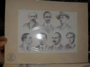 1916 Raster Riseing the leaders etching and proclamation 1916