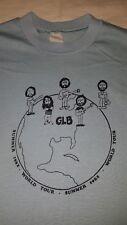 Vintage Great Lakes Band T-Shirt Blue 1982 World Tour Size L