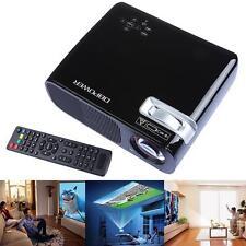 "Black BL-20 HD LCD Projector 1080P  5"" TFT HDMI USB SD TV Home Cinema Theater"