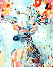 Diy Oil Painting Paint by Numbers Kits for Adult - Painted Deer 16*20 inch