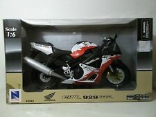 2001 NEW RAY 1/6 SCALE STREETBIKE HONDA CBR929RR ERION RACING BLACK WHITE RED
