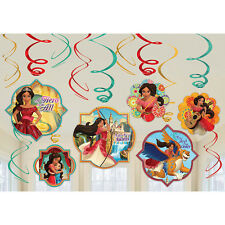 ELENA OF AVALOR HANGING SWIRL DECORATIONS (12) ~ Birthday Party Supplies Foil