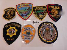 Polizei USA Police Patch  7 verschiedene Abzeichen (sx612)