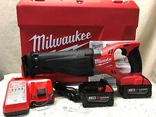 Milwaukee•M18 Volt•2720-22•FUEL SAWZALL® Reciprocating Saw Kit•2-5.0 Batts•New!