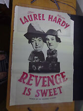 """X movie Poster-laurel & Hardy-REVENGE IS SWEET-March wooden soldiers  -28 x 22"""""""