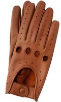 REAL LAMBSKIN LEATHER DRIVING FASHION DRESS GLOVES SOFT & TOP QUALITY TAN COLOUR